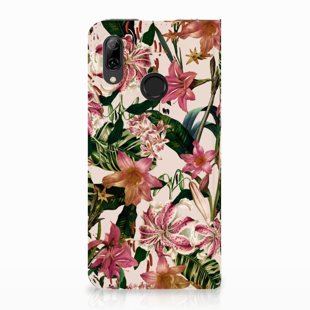 Huawei P Smart (2019) Uniek Standcase Hoesje Flowers