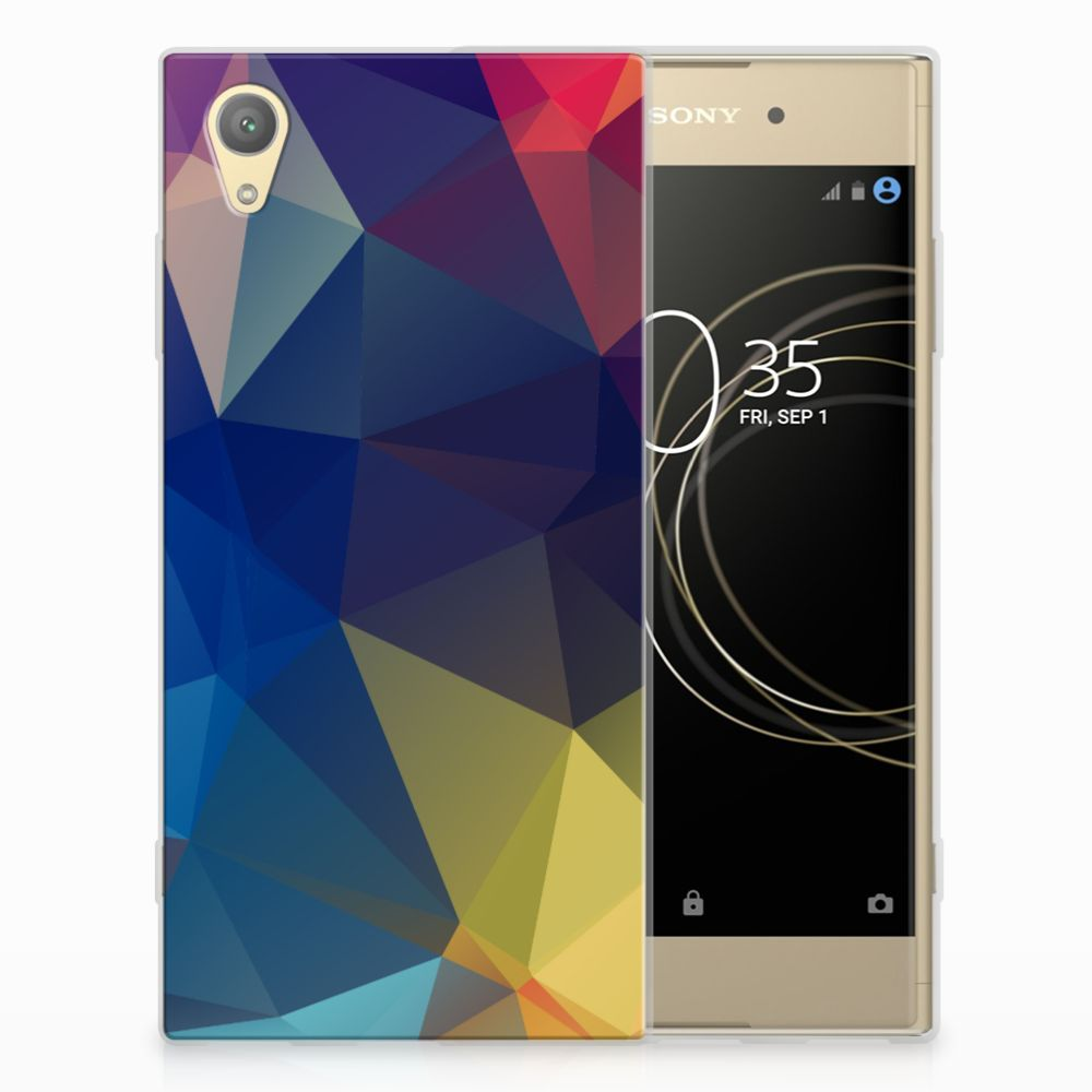 Sony Xperia XA1 Plus TPU Hoesje Polygon Dark