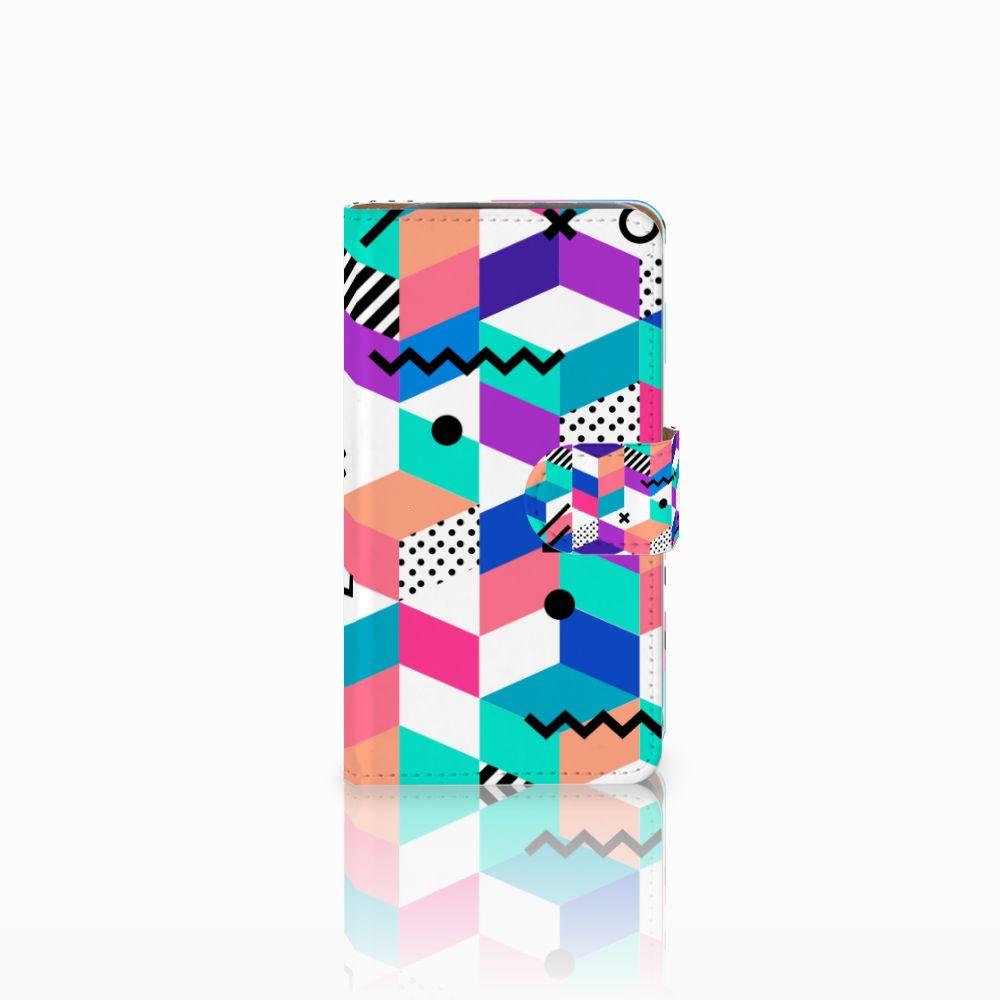 HTC Desire 310 Bookcase Blokken Kleurrijk