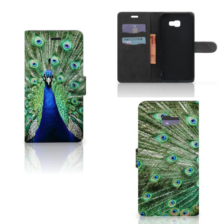 Samsung Galaxy A7 2017 Telefoonhoesje met Pasjes Pauw