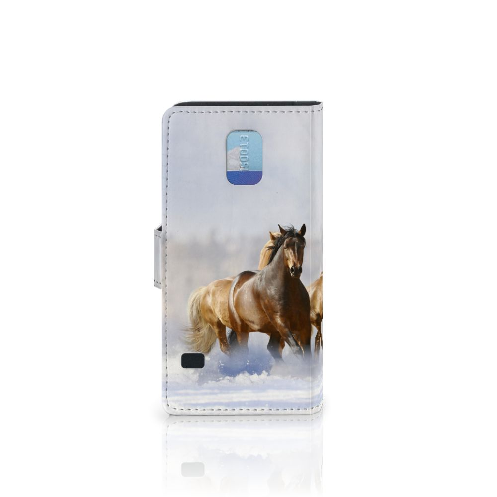 Samsung Galaxy S5 | S5 Neo Telefoonhoesje met Pasjes Paarden