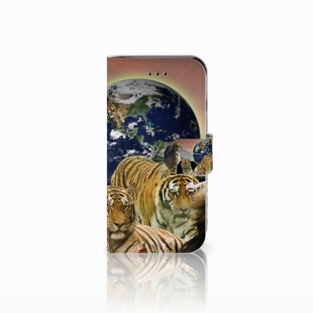 Apple iPhone 6 | 6s Telefoonhoesje met Pasjes Roofdieren
