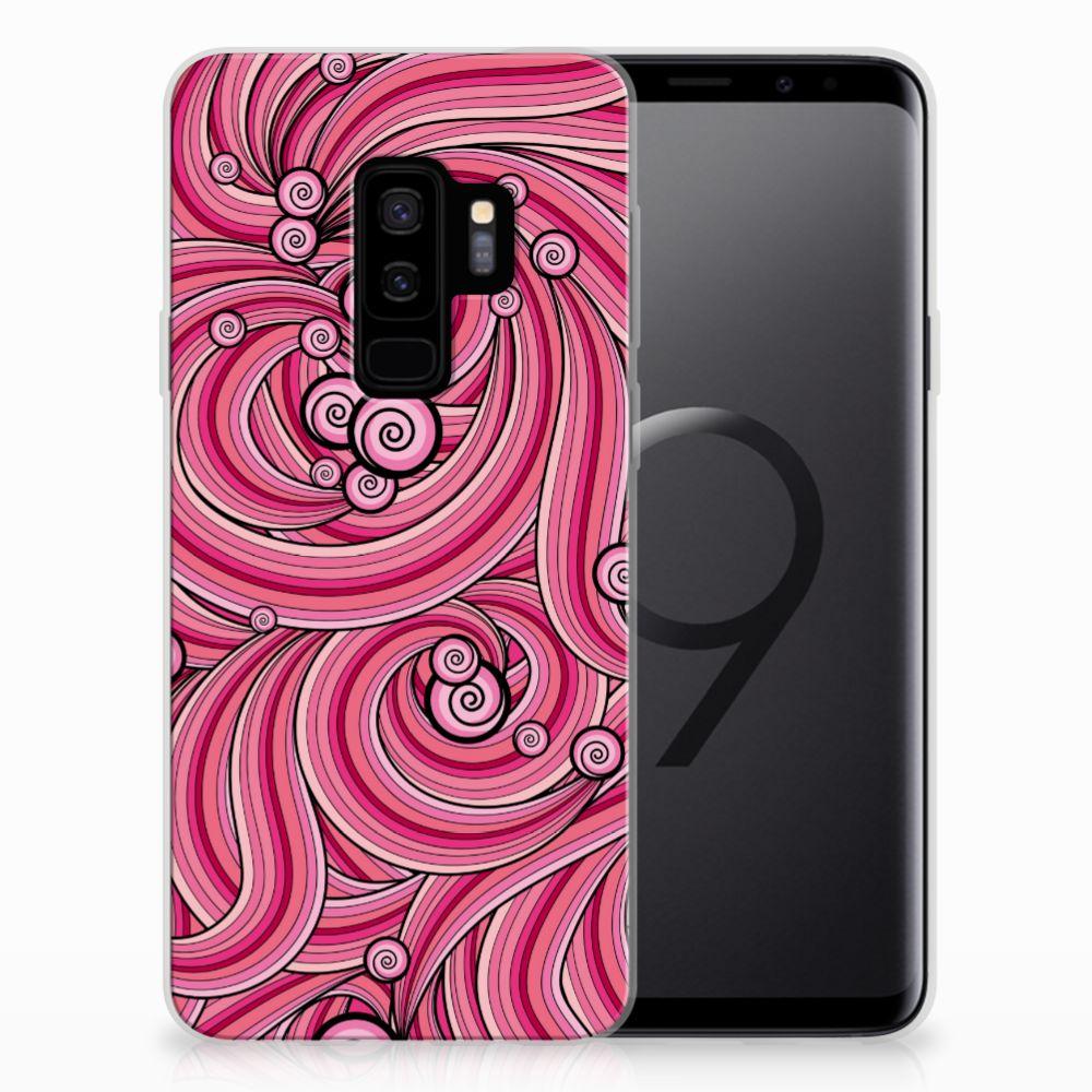 Samsung Galaxy S9 Plus Hoesje maken Swirl Pink