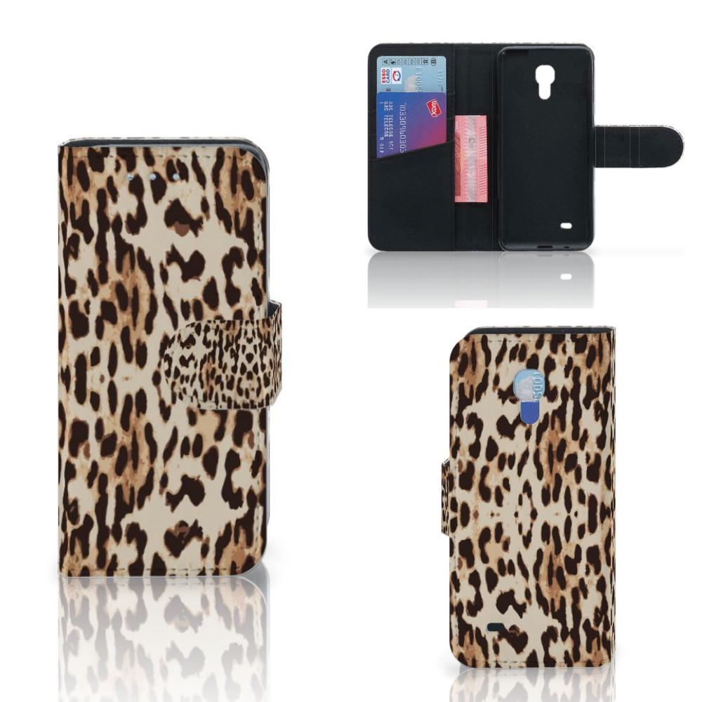 Samsung Galaxy S4 Mini i9190 Telefoonhoesje met Pasjes Leopard