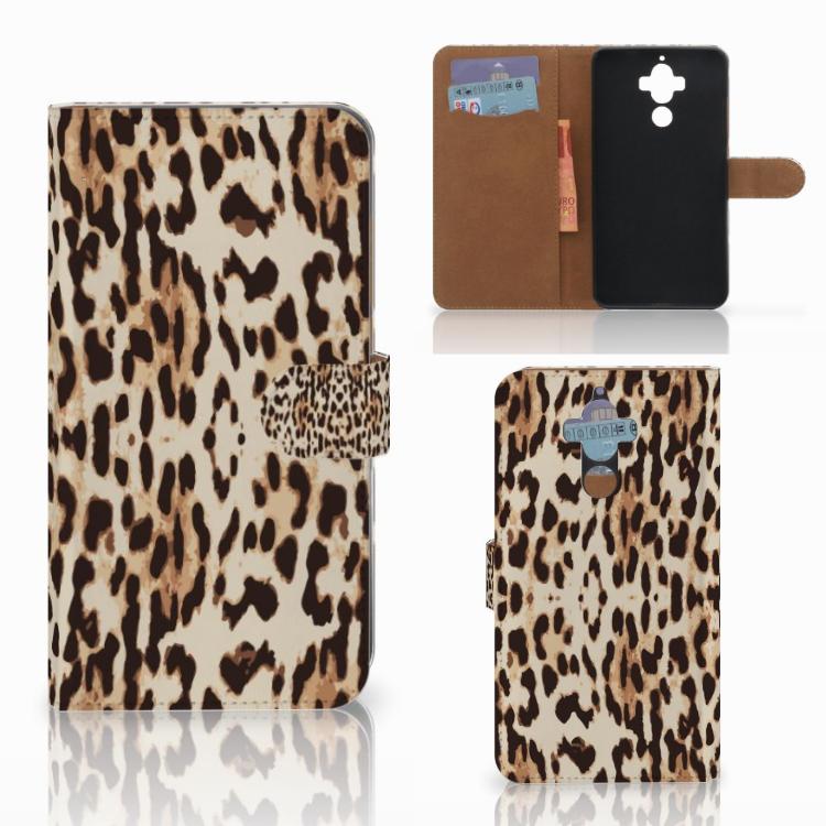 Huawei Mate 9 Telefoonhoesje met Pasjes Leopard