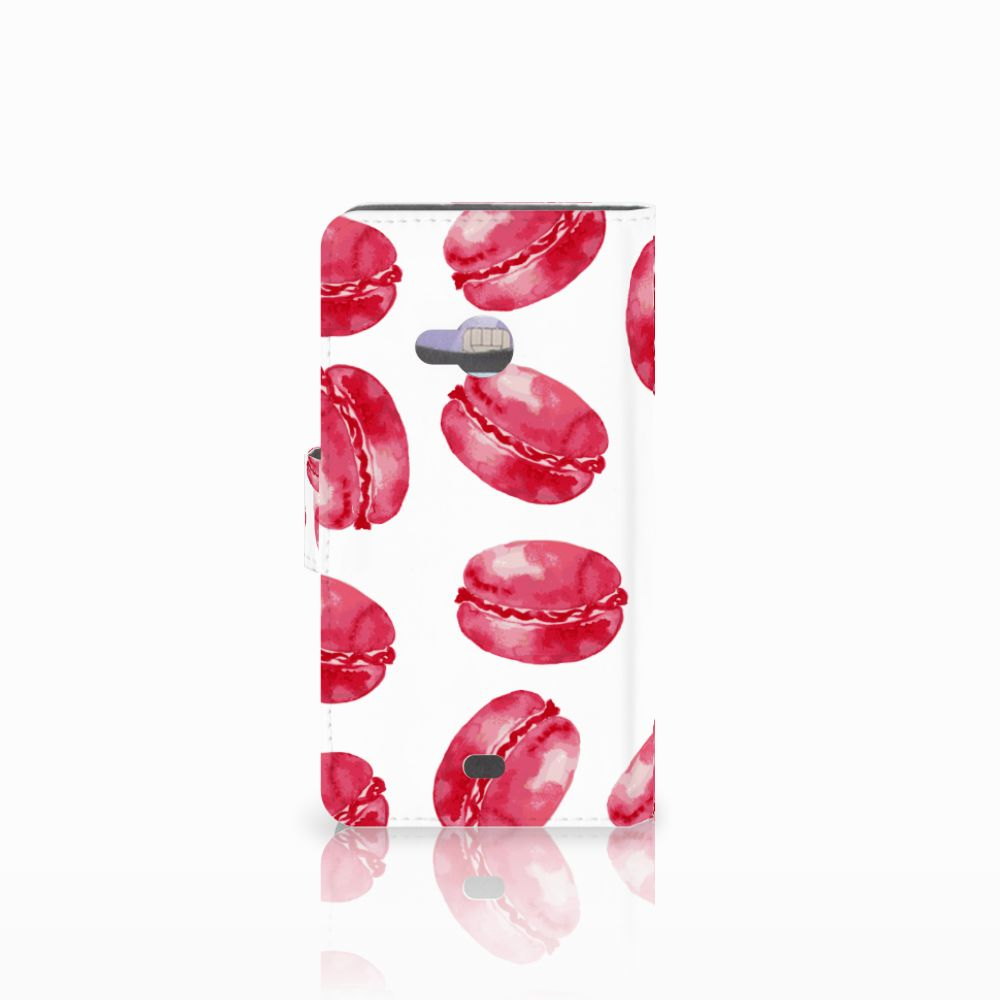 Microsoft Lumia 535 Book Cover Pink Macarons