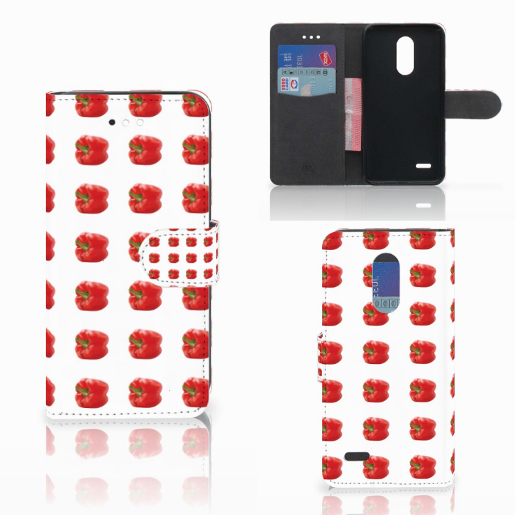 LG K11 Book Cover Paprika Red