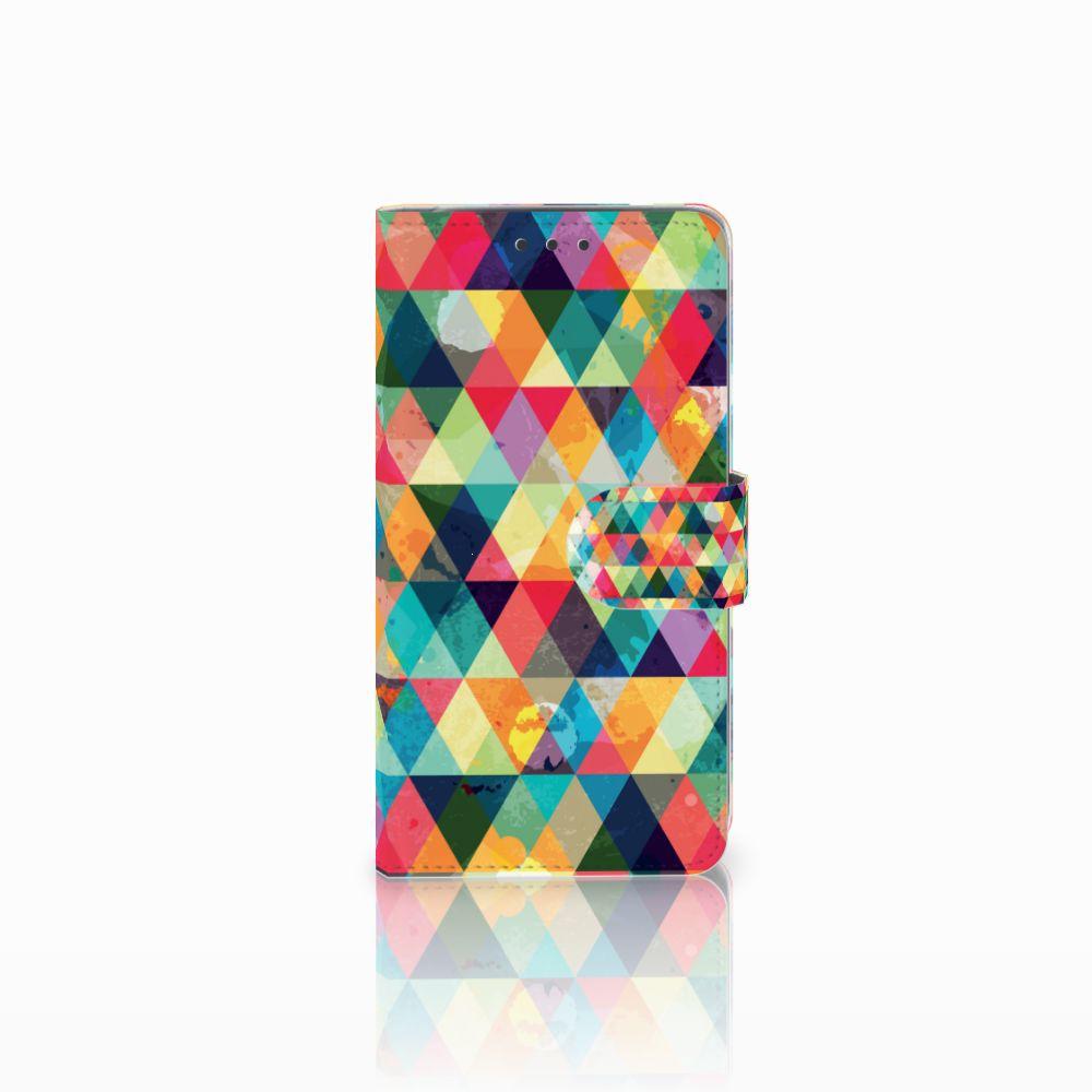 LG Q6 | LG Q6 Plus Uniek Boekhoesje Geruit