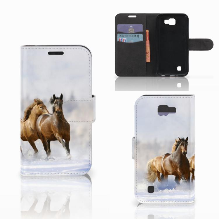 LG K4 Telefoonhoesje met Pasjes Paarden
