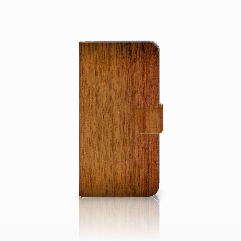 Huawei Nova Plus Uniek Boekhoesje Donker Hout