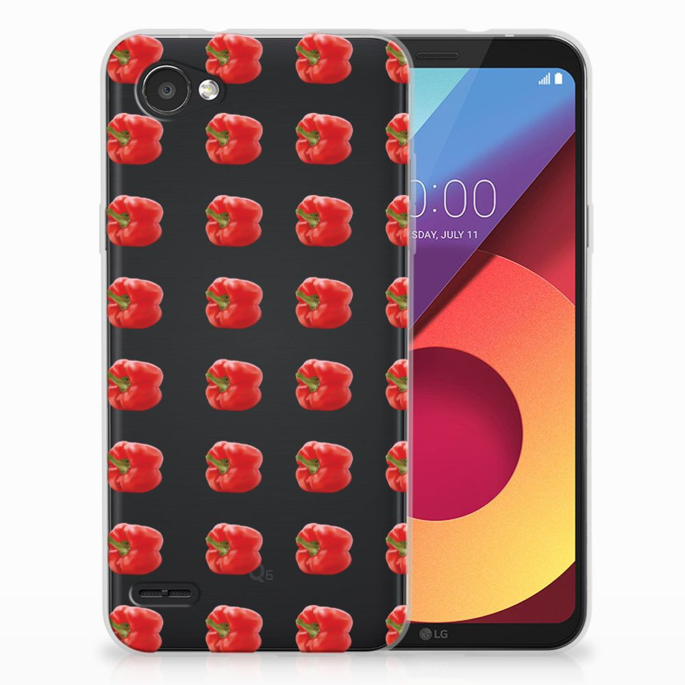 LG Q6 | LG Q6 Plus Siliconen Case Paprika Red