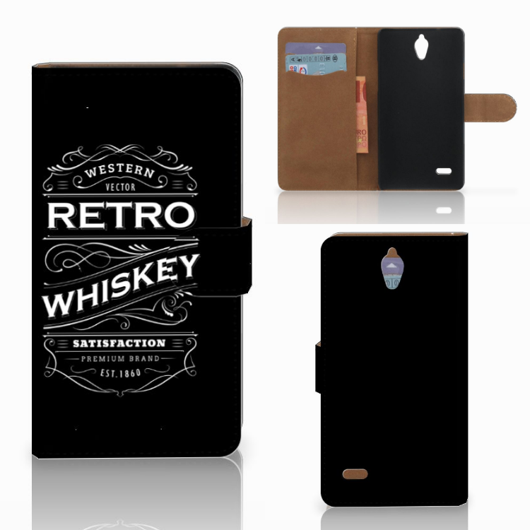 Huawei Ascend G700 Book Cover Whiskey