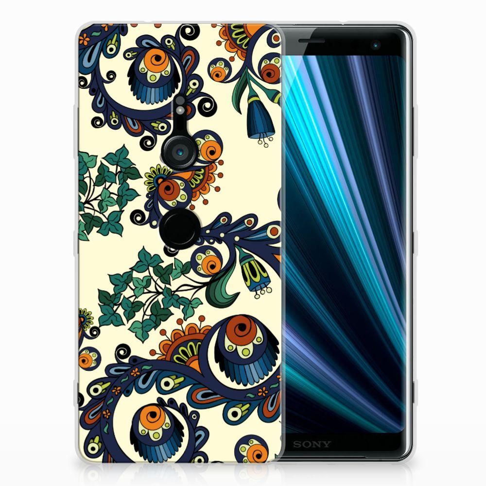 Siliconen Hoesje Sony Xperia XZ3 Barok Flower