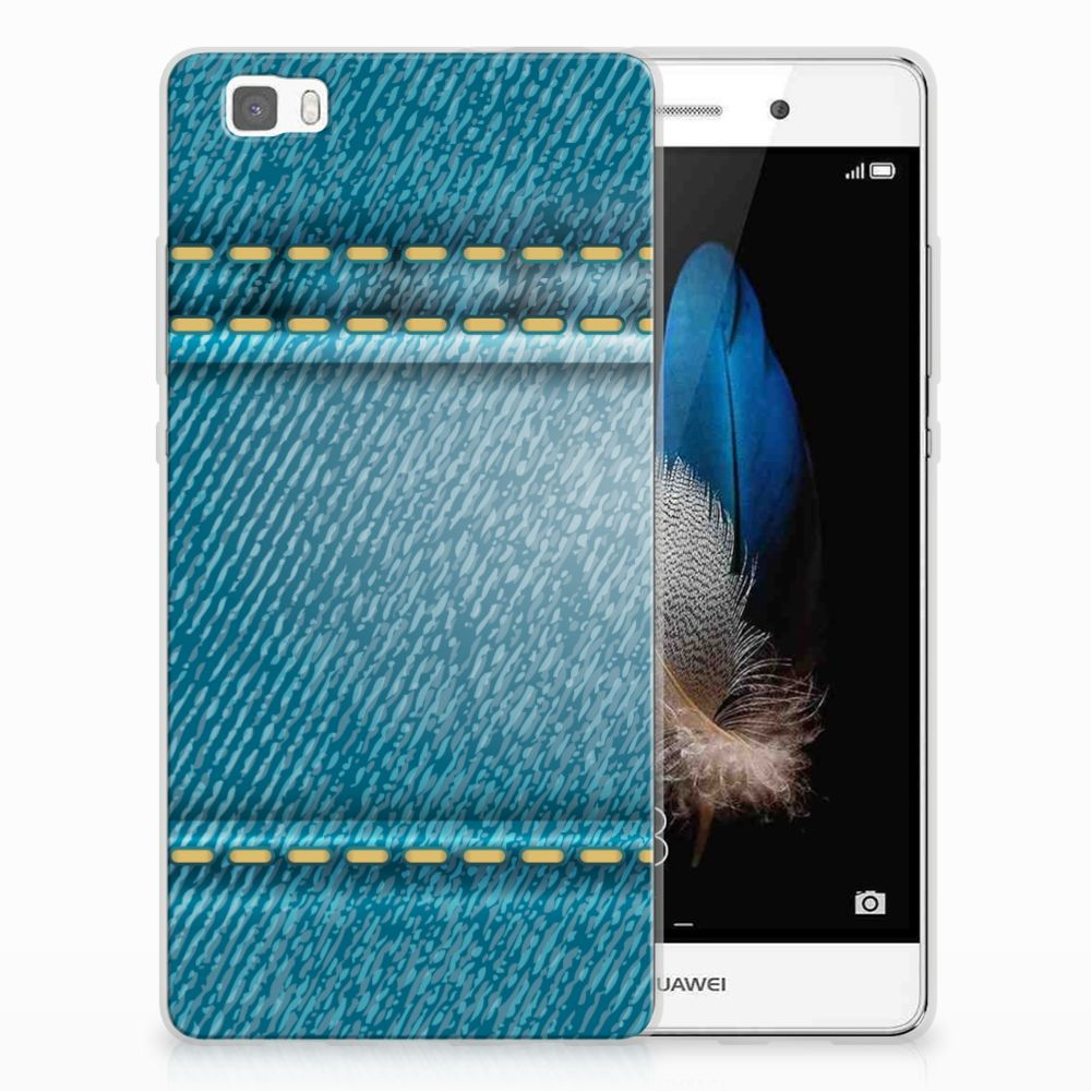 Huawei Ascend P8 Lite Silicone Back Cover Jeans