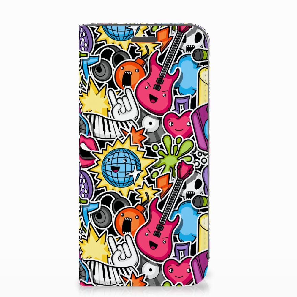 Motorola Moto E5 Play Hippe Standcase Punk Rock