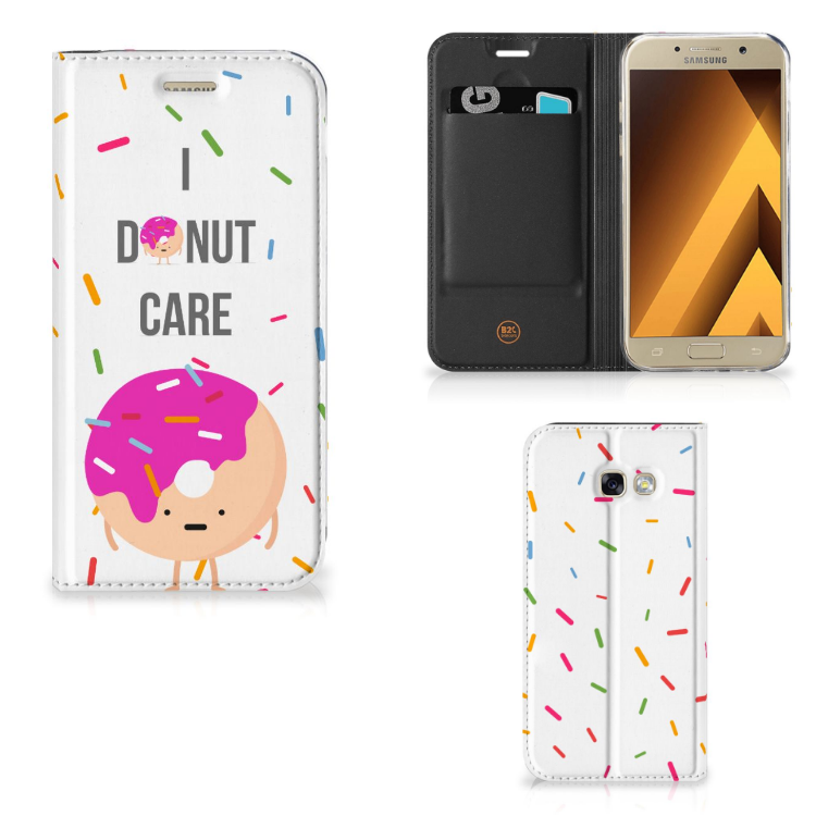 Samsung Galaxy A5 2017 Flip Style Cover Donut Roze