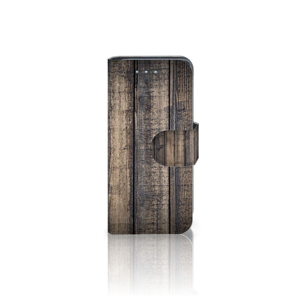 Samsung Galaxy S4 Mini i9190 Boekhoesje Design Steigerhout