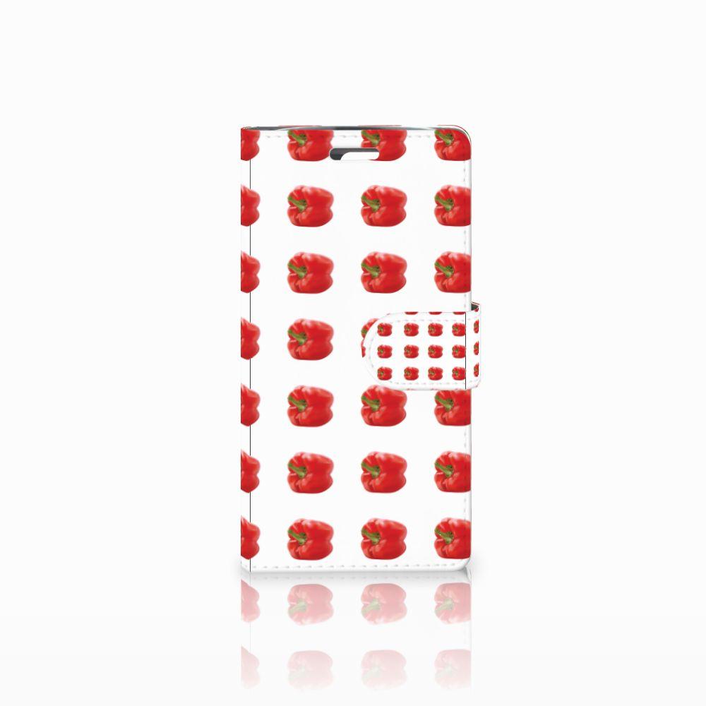 LG K10 2015 Boekhoesje Design Paprika Red