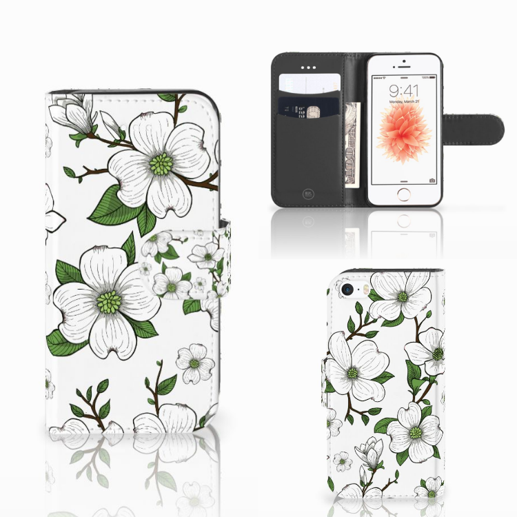 Apple iPhone 5 | 5s | SE Hoesje Dogwood Flowers