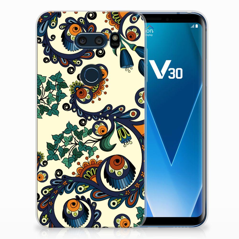 LG V30 TPU Hoesje Design Barok Flower