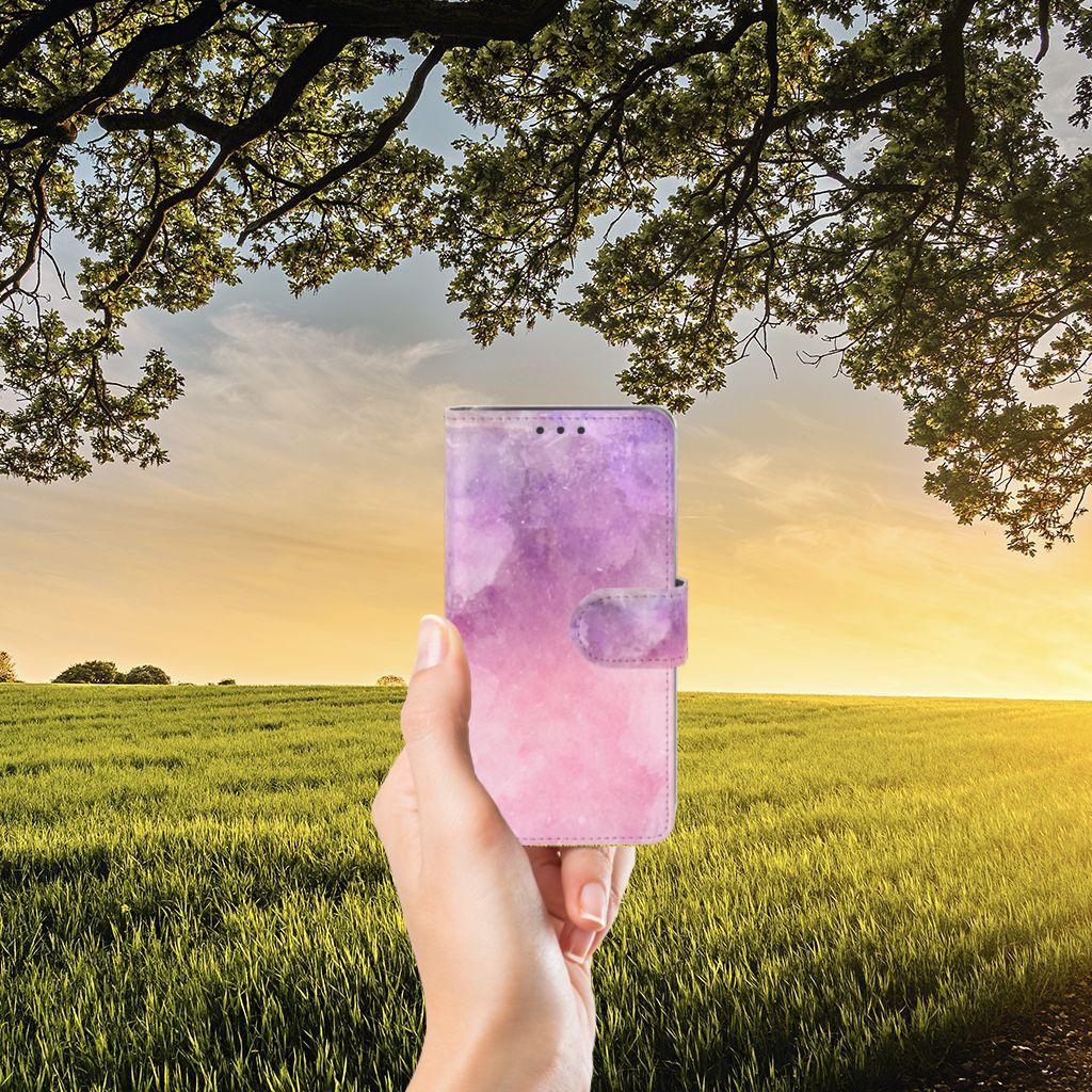 Samsung Galaxy J5 (2015) Boekhoesje Design Pink Purple Paint