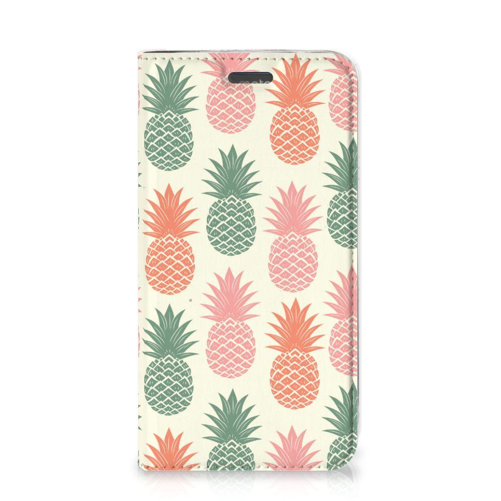 Motorola Moto C Plus Flip Style Cover Ananas