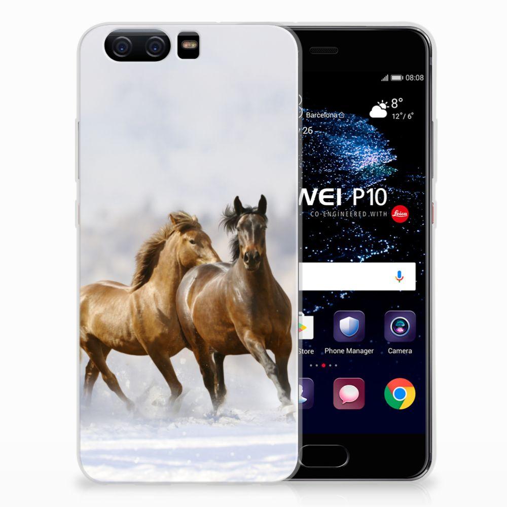 Huawei P10 Uniek TPU Hoesje Paarden