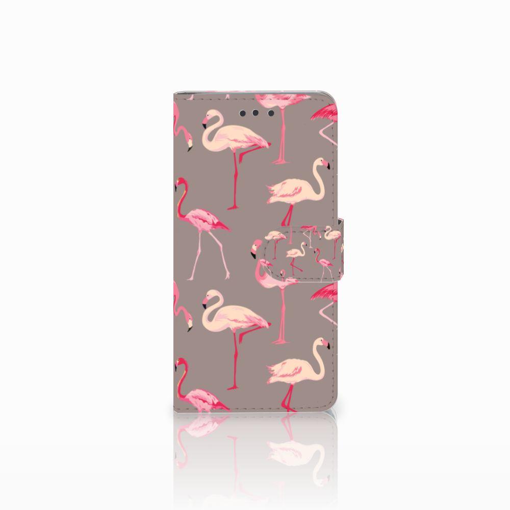 HTC U Play Uniek Boekhoesje Flamingo