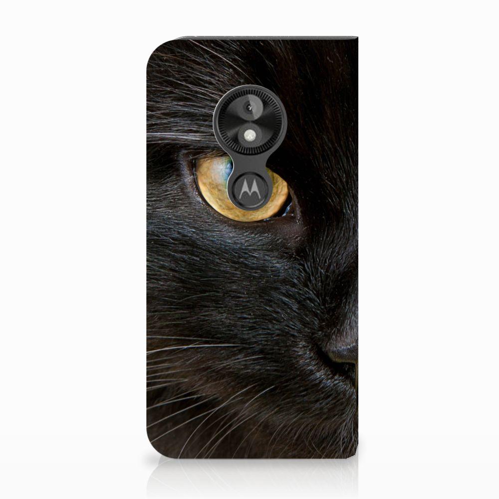 Motorola Moto E5 Play Uniek Standcase Hoesje Zwarte Kat