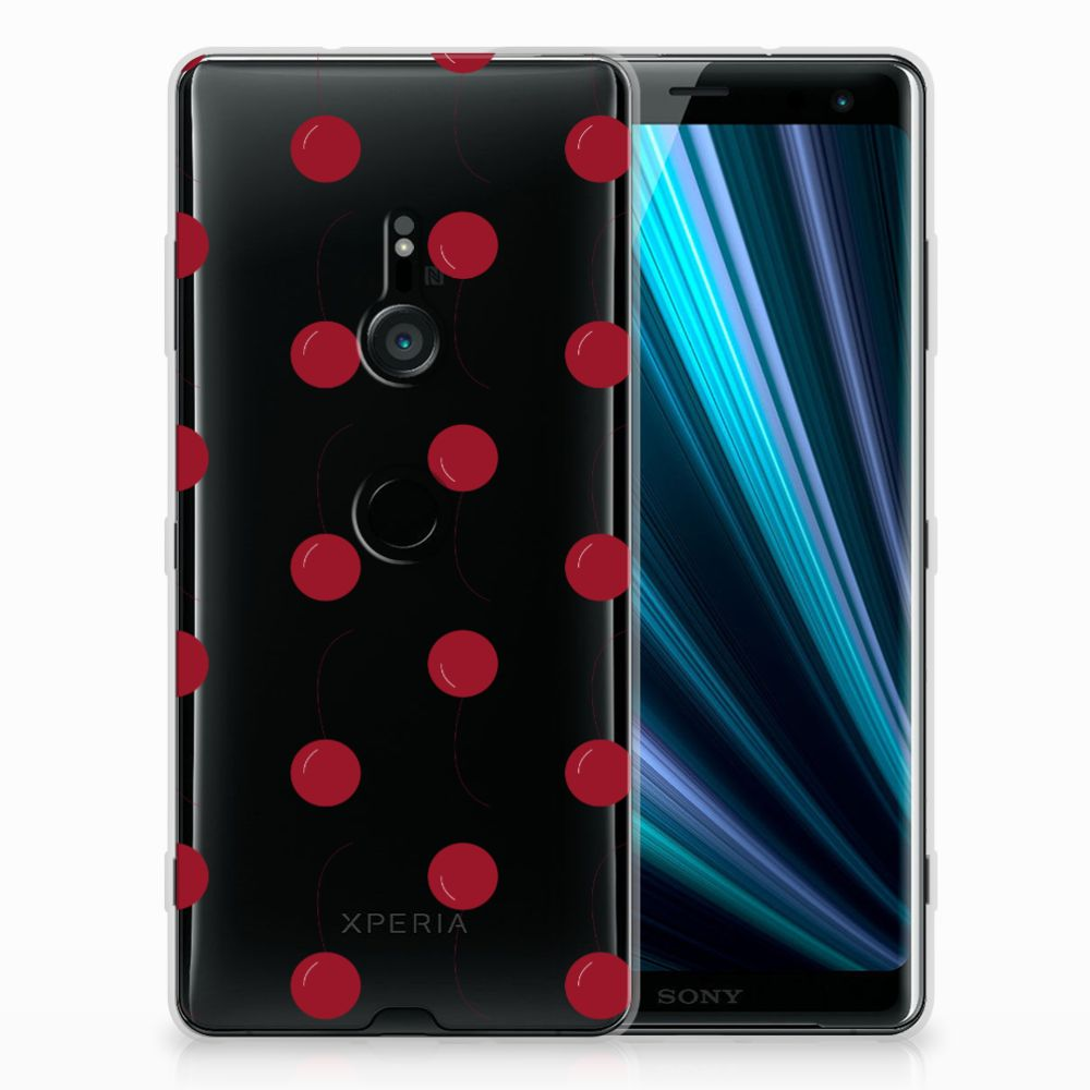Sony Xperia XZ3 Siliconen Case Cherries