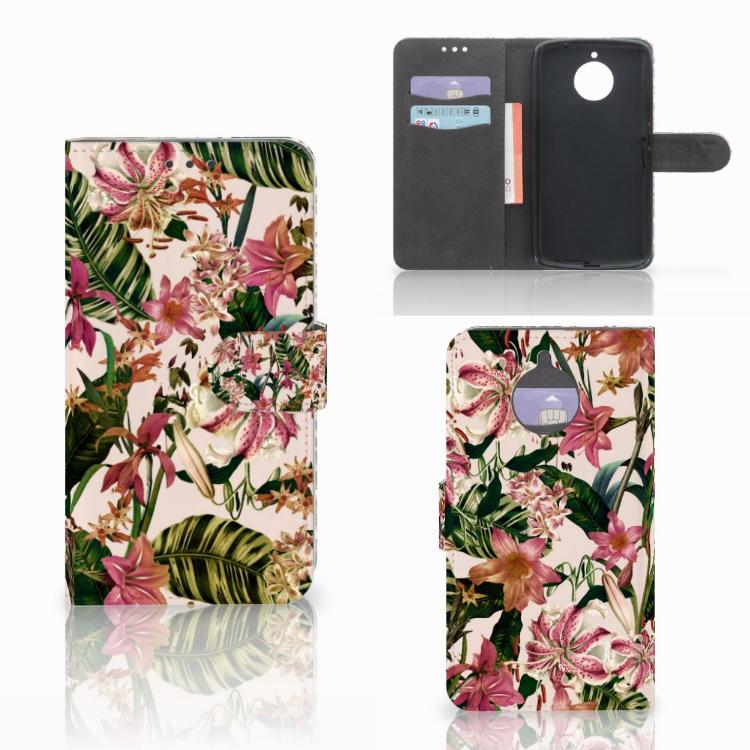 Motorola Moto E4 Plus Hoesje Flowers