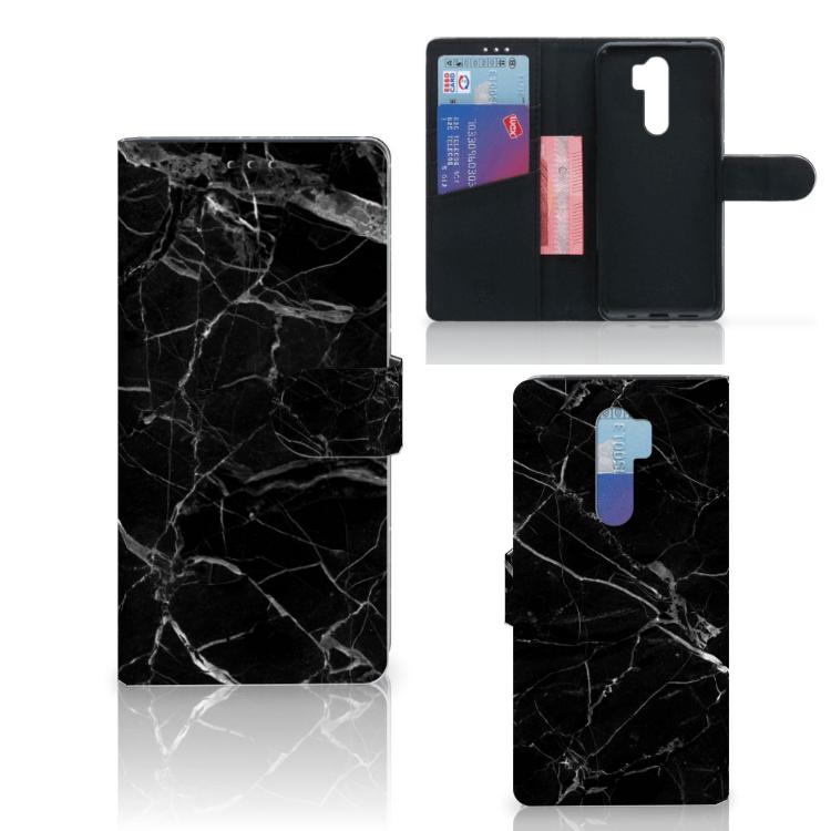 Xiaomi Note 8 Pro Bookcase Marmer Zwart