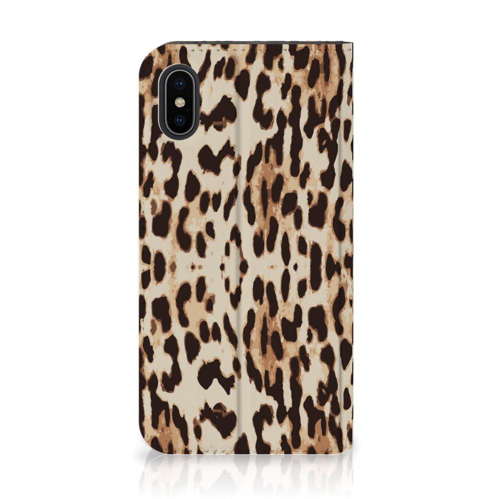 Apple iPhone X | Xs Uniek Standcase Hoesje Leopard