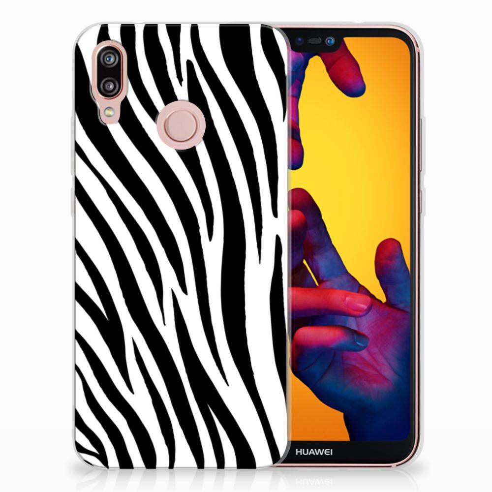 Huawei P20 Lite TPU Hoesje Design Zebra