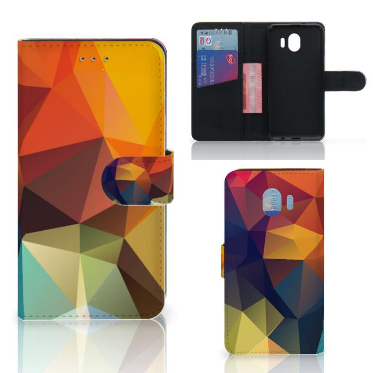 Samsung Galaxy J4 2018 Bookcase Polygon Color
