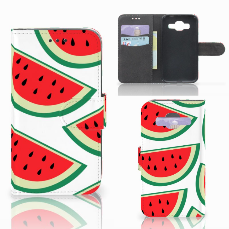 Samsung Galaxy Core Prime Book Cover Watermelons