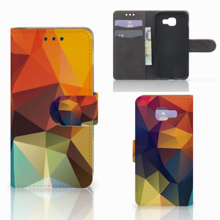 Samsung Galaxy A3 2016 Bookcase Polygon Color