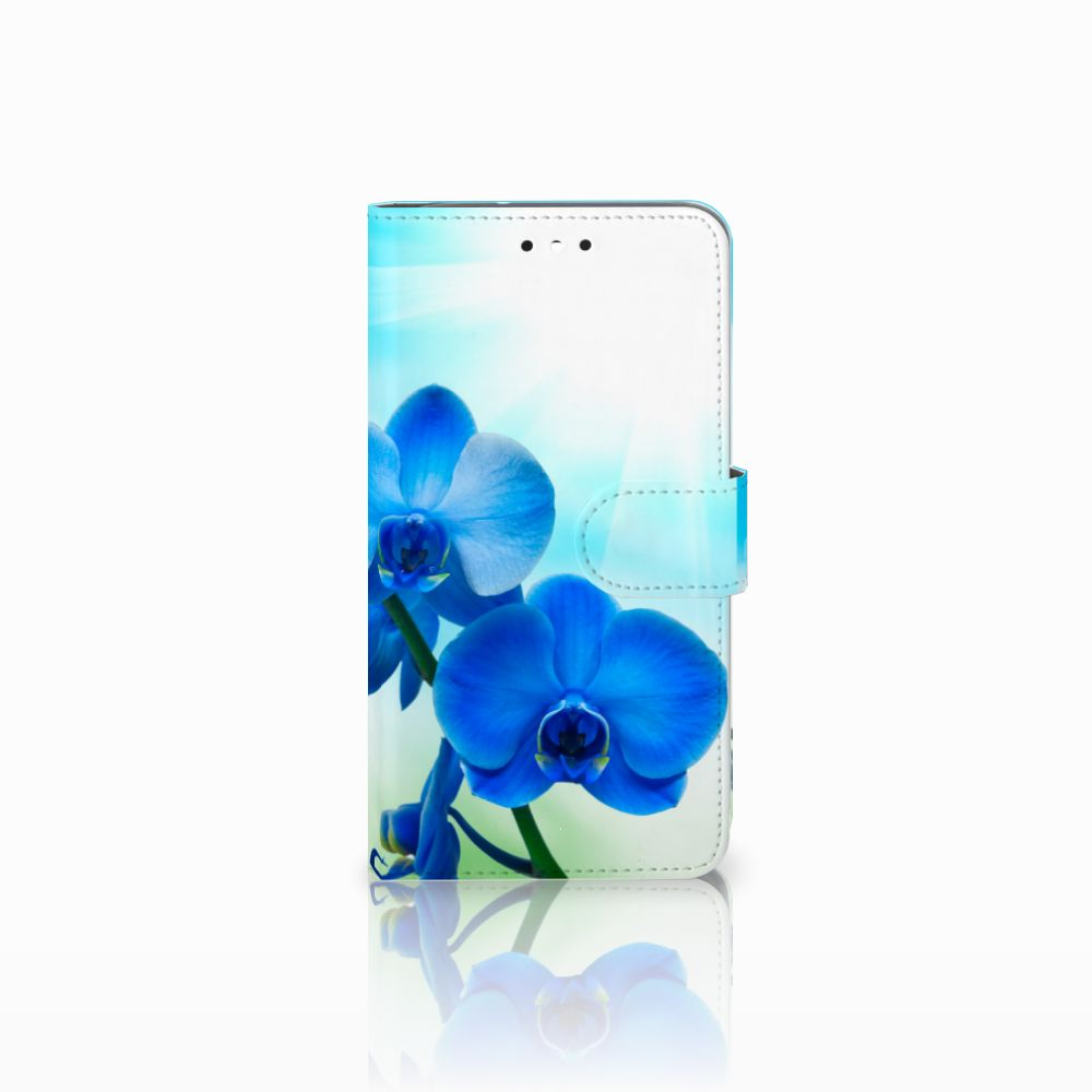 Motorola Moto G4 | G4 Plus Boekhoesje Design Orchidee Blauw