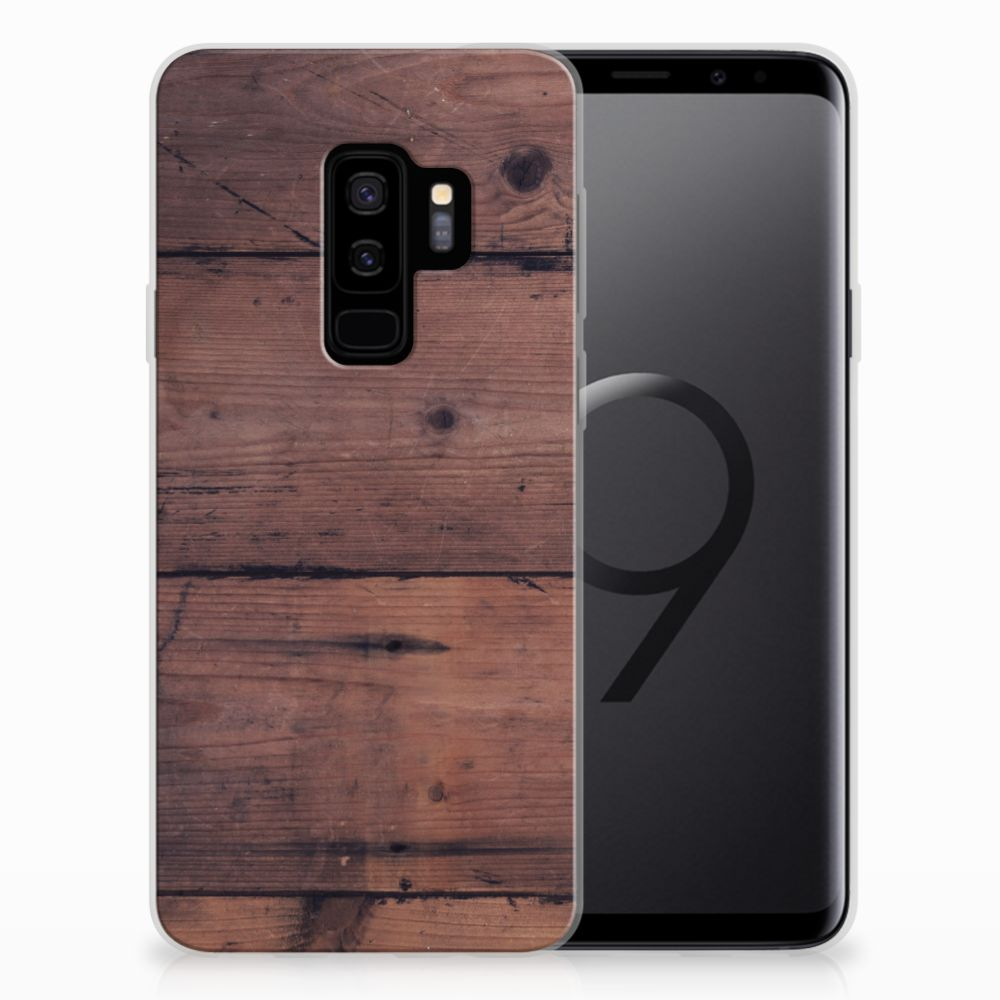 Samsung Galaxy S9 Plus Bumper Hoesje Old Wood
