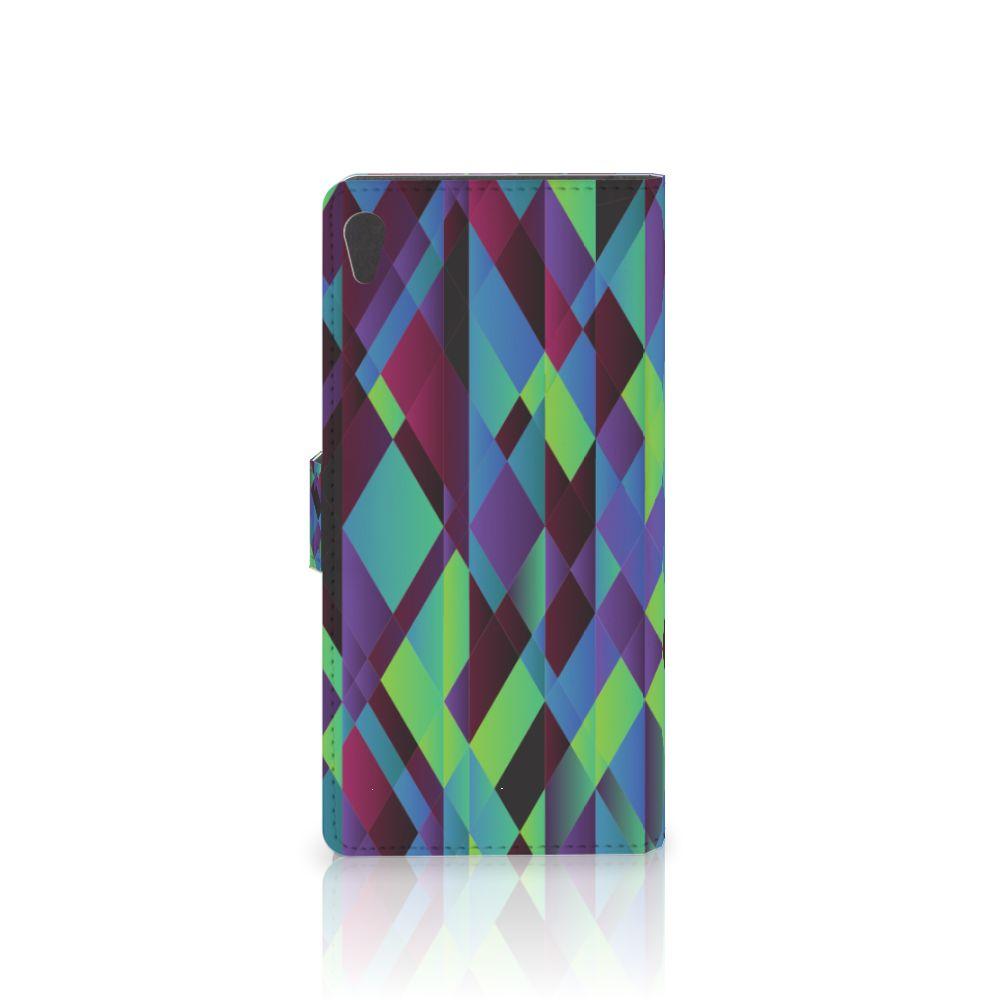 Sony Xperia XA Ultra Bookcase Abstract Green Blue