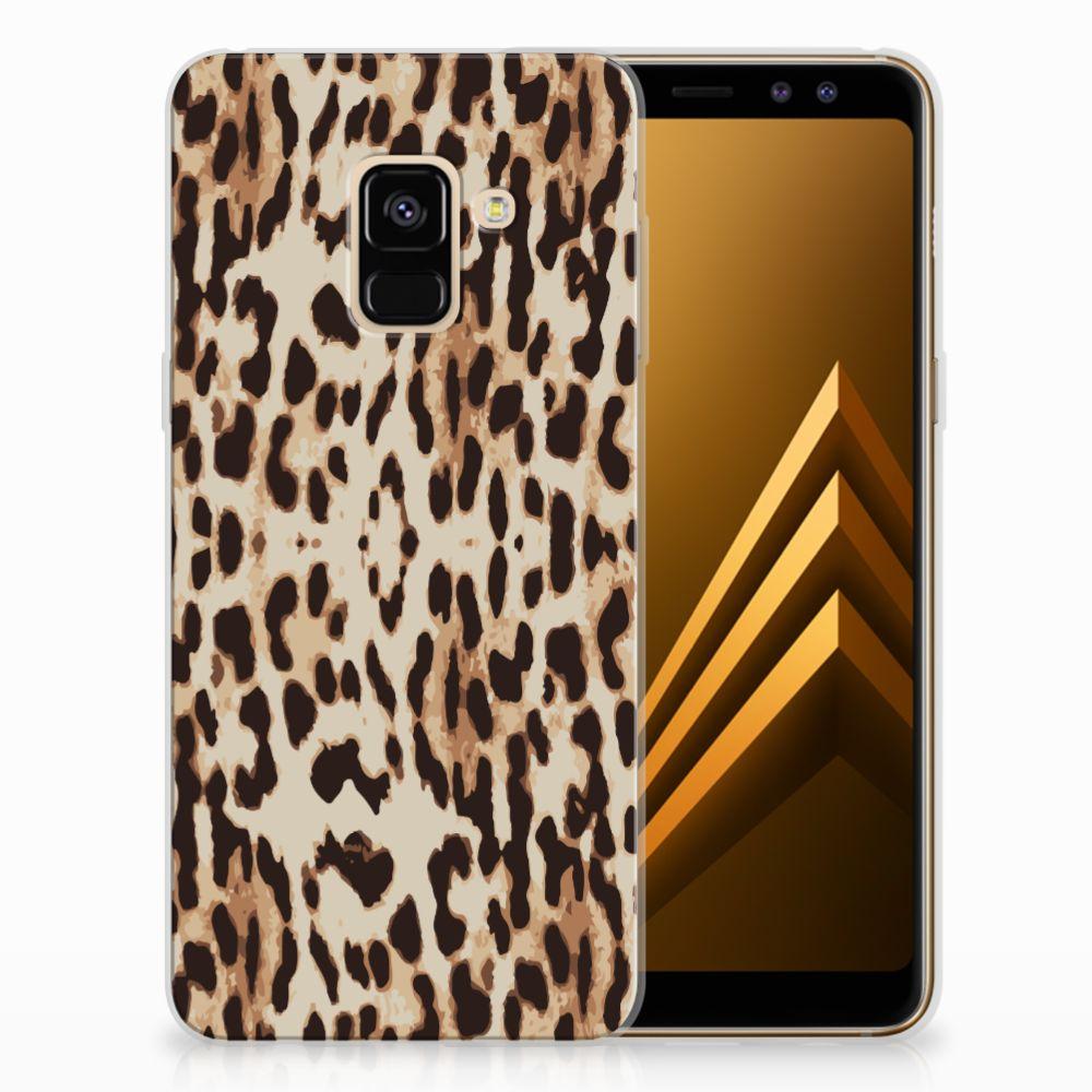 Samsung Galaxy A8 (2018) Uniek TPU Hoesje Leopard