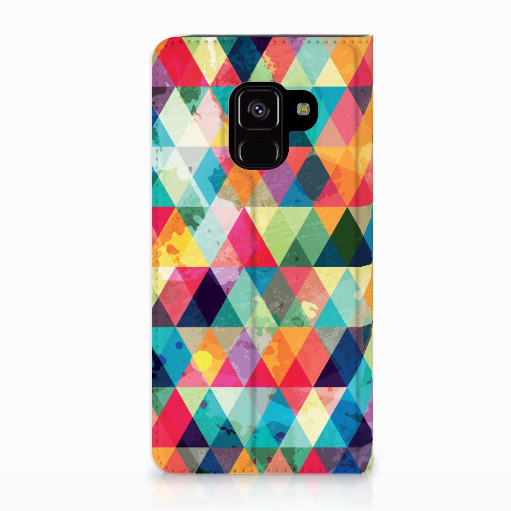 Samsung Galaxy A8 (2018) Uniek Standcase Hoesje Geruit