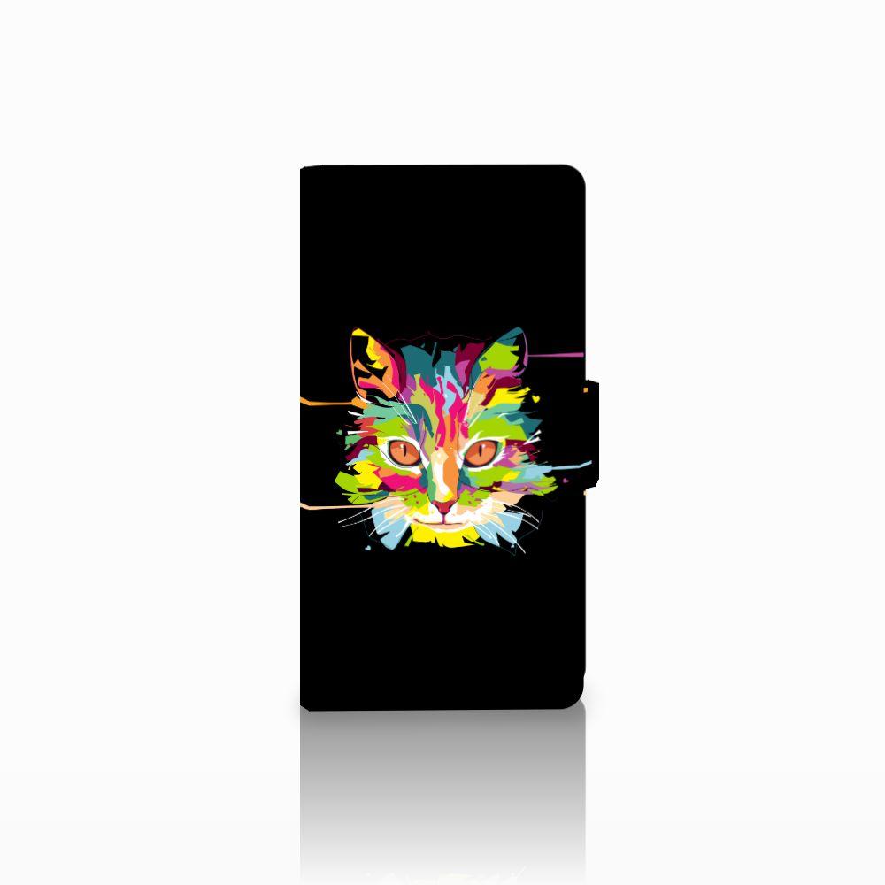 Nokia Lumia 830 Uniek Boekhoesje Cat Color