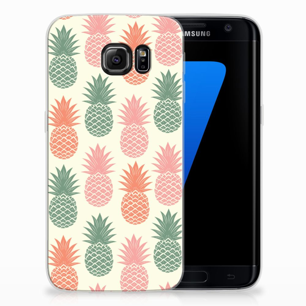 Samsung Galaxy S7 Edge TPU Hoesje Design Ananas