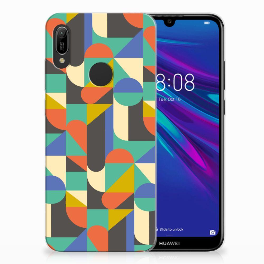 Huawei Y6 2019 | Y6 Pro 2019 Uniek TPU Hoesje Funky Retro