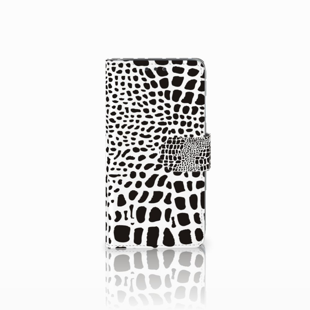 Samsung Galaxy J5 (2015) Telefoonhoesje met Pasjes Slangenprint