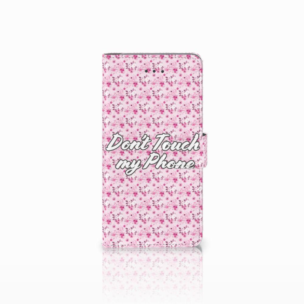 Samsung Galaxy J7 (2018) Uniek Boekhoesje Flowers Pink DTMP