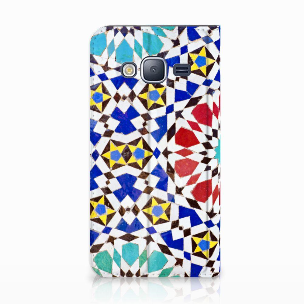 Samsung Galaxy J3 2016 Standcase Hoesje Design Mozaïek