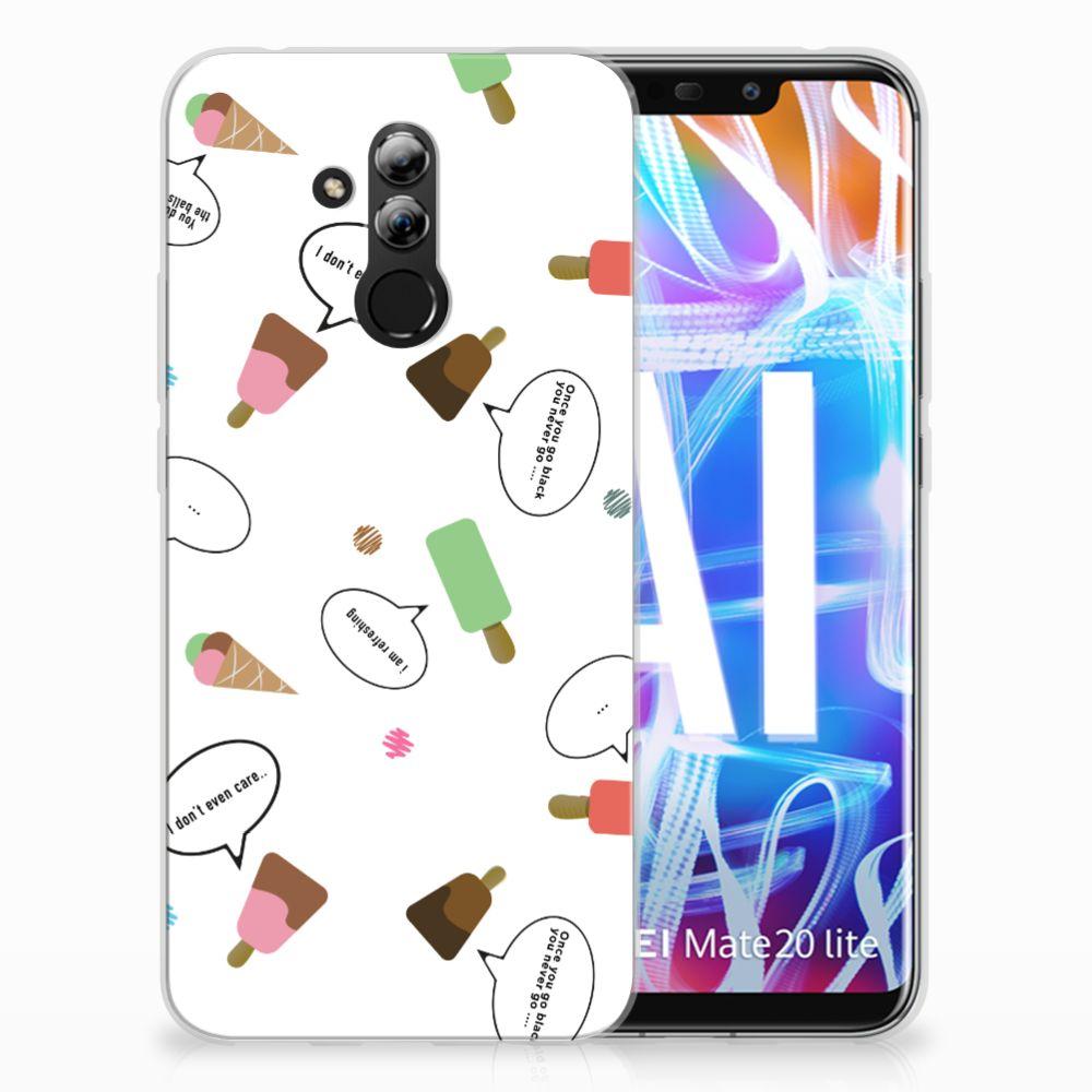 Huawei Mate 20 Lite Siliconen Case IJsjes