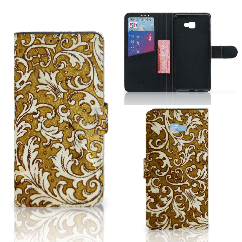 Wallet Case Samsung Galaxy J4 Plus (2018) Barok Goud